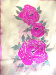 Camellias Scarf |Diana Northrop