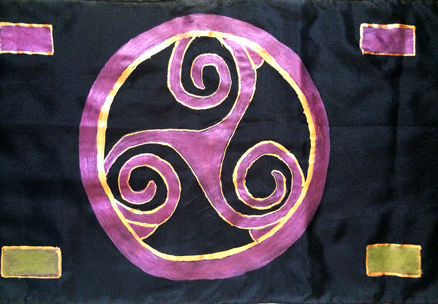 Celtic Dreams Silk Scarf | Diana Northrop