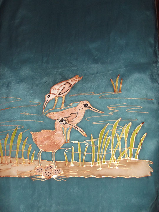 Curlew Family Scarf |Diana Northrop