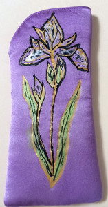 Iris & Wildflower Silk Eyeglass Case | Diana Northrop