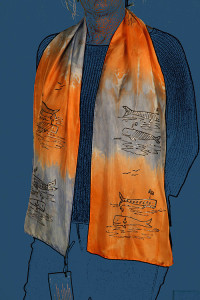Whimsical Whales Scarf | Diana Northrop